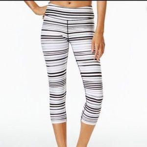 Striped Tommy Hilfiger Capris Workout Leggings